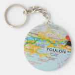 Toulon, France Keychain