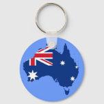 australia flag map keychain