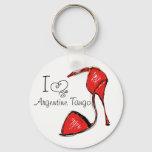 I Love Argentine Tango Key Chain
