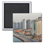 Waterfront with Yantai city skyline, Shandong Magnet