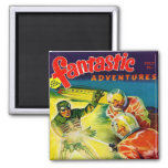 Retro Vintage Kitsch Sci Fi Pulp Fantastic Mag Magnet