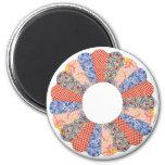 Custom Vintage Dresden Plate Quilt Magnet