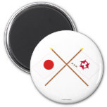 Japan and Oita Crossed Flags Magnet