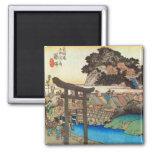 7. 藤沢宿, 広重 Fujisawa-juku, Hiroshige, Ukiyo-e Magnet