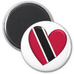 Trinidad Heart Flag Magnet