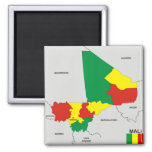 mali country political map flag magnet