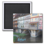 Erfurt Merchants Bridge photo Magnet