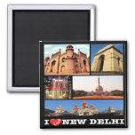 IN - India - New Delhi - I Love - Collage Magnet