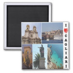 IT - Italy - Cagliari - I Love - Collage Mosaic Magnet