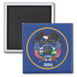 Magnet with Flag of Utah State - USA