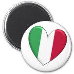 Italy Heart Flag Magnet