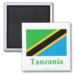 Tanzania Flag with Name Magnet