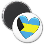 Bahamas Heart Flag Magnet