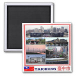 TW - Taiwan Formosa - Taichung - Collage Mosaic Magnet
