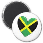 Jamaican Heart Flag Magnet