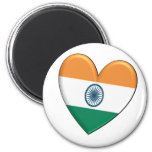 India Heart Flag Magnet