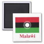 Malawi Flag with Name in Chewa Magnet