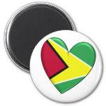 Guyana Heart Flag Magnet