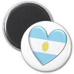 Argentina Heart Flag Magnet