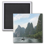 China, Guilin, Li River, River boats line the Magnet