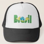 Brasil Flag T-shirt Hat