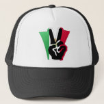 Mexico Peace Fingers Flag Hat