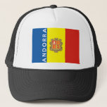 andorra country flag text name trucker hat