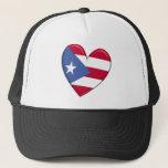 Puerto Rico Heart Flag Hat