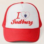I Love Sudbury, Massachusetts Trucker Hat