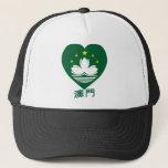 Macau Flag Heart Trucker Hat