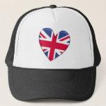 United Kingdom Heart Flag Hat
