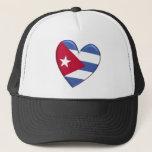 Cuba Heart Flag Hat