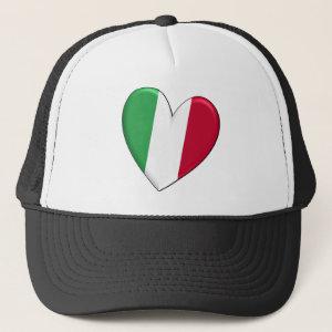 Italy Heart Flag Hat