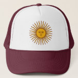 Golden Sun of May Argentina Flag Beach Hat