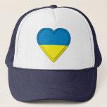 Ukraine flag trucker hat