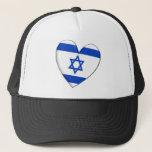 Israel Heart Flag Hat