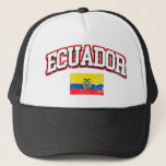 Ecuador Vintage Flag Trucker Hat