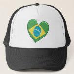 Brazil Heart Flag Hat