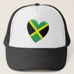 Jamaican Heart Flag Hat