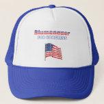 Blumenauer for Congress Patriotic American Flag Trucker Hat