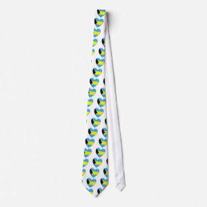 Bahamas Heart Flag Tie