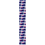 Pitcairn Islands Flag with Name Tie