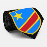 Beautiful Congo Flag Neck Tie