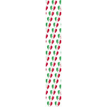 Mexico Heart Flag Tie