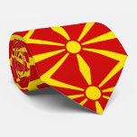Macedonia flag neck tie