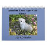 Lhasa Apso Rescue 2018 Calendar