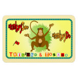 Trinidad and Tobago Monkey See Monkey Do Magnet