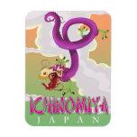 Ichinomiya Japan vintage holiday poster. Magnet