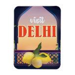 Delhi Vintage Travel Print. Magnet