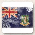 British Virgin Islands Flag Beverage Coaster